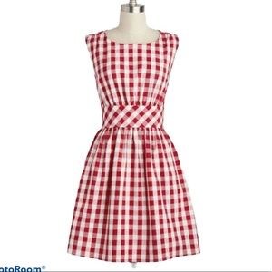 Vintage Ixia Made in USA Pin-Up Gingham  2…